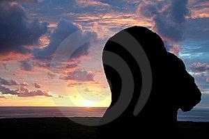 Sunrise At Rano Raraku, Easter Island Royalty Free Stock Photo - Image: 20741435