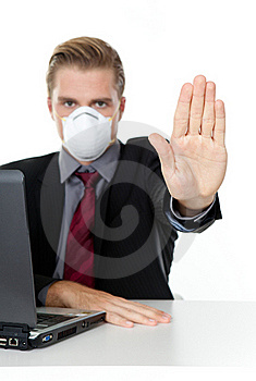 Businessman Handsign Stop Stock Photo - Image: 20741520