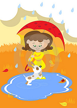 Girl With Umbrella Royalty Free Stock Photography - Image: 20742777