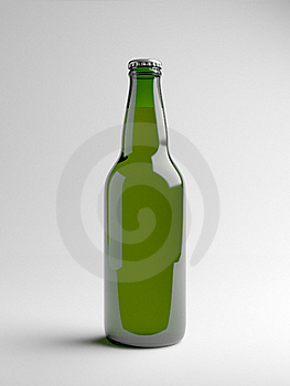 Green Beer Bottle Royalty Free Stock Images - Image: 20743819