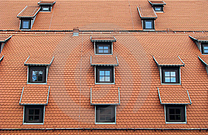 Windows On The Roof Stock Image - Image: 20744281