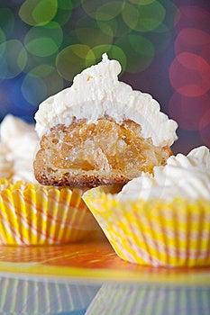 Orange Cakes On Glass Table Stock Photo - Image: 20744370