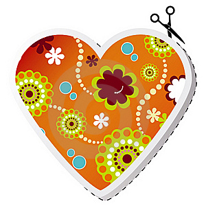 Beauty Spring Flower Valentine Heart Royalty Free Stock Photography - Image: 20748167