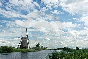 Windmill Near Kinderdijk In NL (UN World Heritage) Stock Photo - Image: 20750360