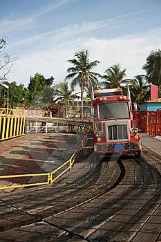 Crazy Bus Ride For Children In Amusement Park Stock Photo - Image: 20754910