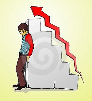 Businessman Standing, Chart And Red Grow Arrow Stock Photos - Image: 20760213