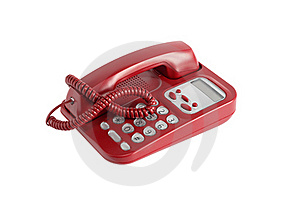 Red Telephone On White Royalty Free Stock Photography - Image: 20766967