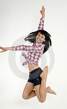 Smiling Young Girl In Jump Stock Photo - Image: 20767530