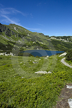 Lake In The Mountains Stock Image - Image: 20768041