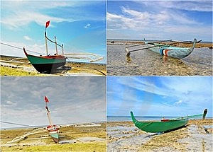 Fishing Boats Collage Stock Photography - Image: 20771762