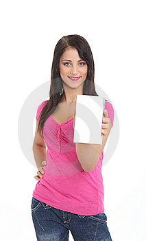 Young Women With A Product Stock Image - Image: 20776711