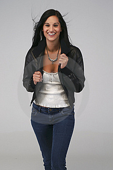 Brunette In Jeans Royalty Free Stock Images - Image: 20779269