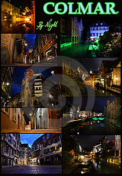 Colmar By Night Royalty Free Stock Photo - Image: 20780535