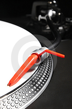 Turntable Playing Viyl Record With Music Royalty Free Stock Photos - Image: 20788048