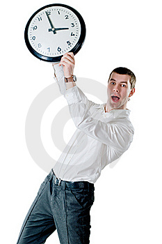 Man And Clock Stock Images - Image: 20795644