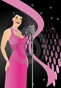 Singer In Retro Style, Cdr Vector Stock Photography - Image: 20795822