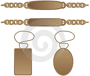Identity Tag Bracelet Stock Image - Image: 20799081