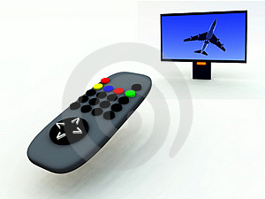 TV Control And TV 10 Royalty Free Stock Photos - Image: 2083368