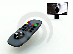 TV Control And TV 8 Royalty Free Stock Photography - Image: 2083387