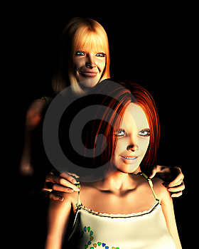 Mother And Daughter 19 Royalty Free Stock Image - Image: 2083416