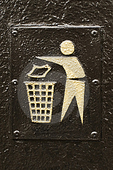 Litter Sign Royalty Free Stock Image - Image: 20800896