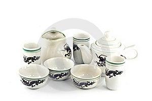 Chinese Ceramic Tea Set Royalty Free Stock Photo - Image: 20807875