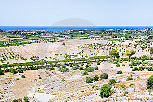 Rural View On Mediterranean Coast In Sicily Stock Image - Image: 20808891