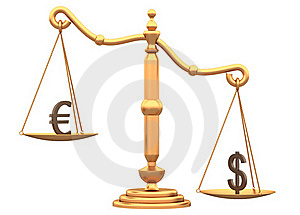 Difference Between The Currencies Royalty Free Stock Image - Image: 20811016