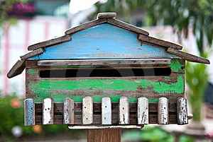 Wood Postbox Stock Images - Image: 20817234