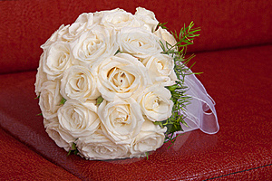 Wedding Bridal Bouquet Of White Roses Stock Photos - Image: 20819223