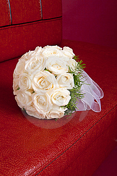 Bouquet Nuptiale Wedding Des Roses Blanches Images libres de droits - Image: 20819269