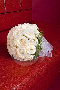 Wedding Brautblumenstrauß Der Weißen Rosen Lizenzfreie Stockbilder - Bild: 20819269