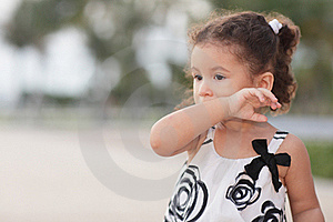 Child Wiping Her Mouth Stock Photos - Image: 20820463