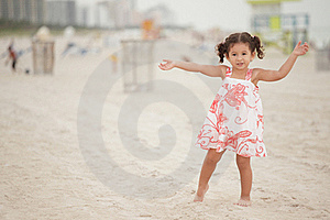 Girl Outstretching Her Arms Stock Images - Image: 20820484