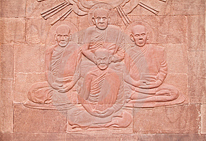 Native Thai Art On Low Relief Sculpture Stock Images - Image: 20827734
