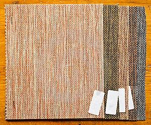 Pieces Of Burlap Sample Stock Image - Image: 20839891