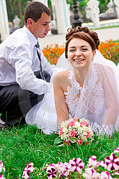 Happy Bride And Groom  Having Fun Royalty Free Stock Image - Image: 20843796