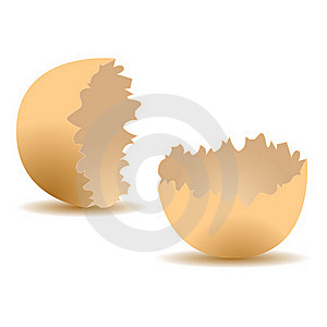 Cracked Egg Shell Stock Photography - Image: 20846482