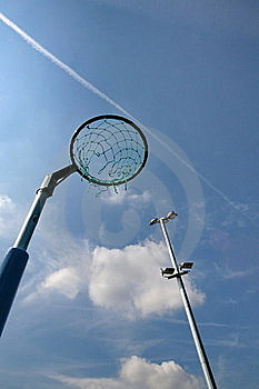 Netball Net With Floodlight Stock Photos - Image: 20848663