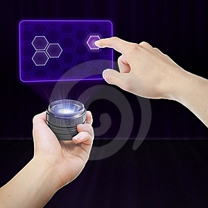 Working With Virtual Interface Royalty Free Stock Image - Image: 20850776