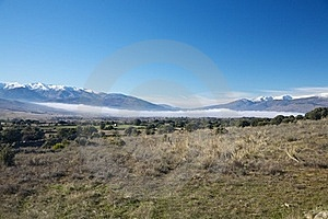 Fog Over Valley At Gredos Stock Photo - Image: 20853810