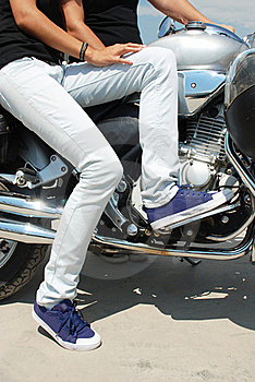 Motorbike And Girls Royalty Free Stock Images - Image: 20854809