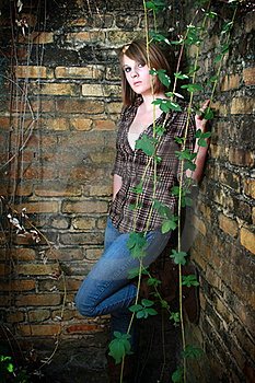 Young Woman With Vines Royalty Free Stock Image - Image: 20859316