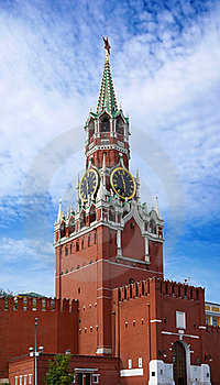 The Saviour Tower. Kremlin In Moscow. Royalty Free Stock Images - Image: 20859759
