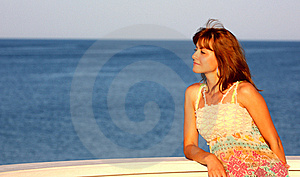 Woman And Sea,ocean Stock Images - Image: 20861564