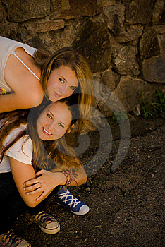 Two Teens Happy Smiling Royalty Free Stock Images - Image: 20865769