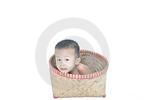 Boy In The Basket Royalty Free Stock Photos - Image: 20866958