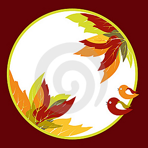 Abstract Autumn Leaves With Bird Background Stock Photography - Image: 20866992