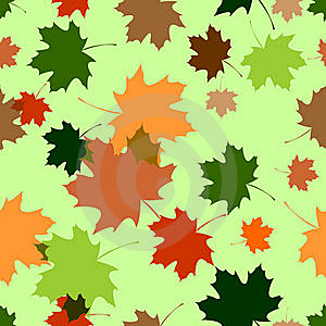 Seamless Pattern With Maple Foliage Stock Images - Image: 20869364