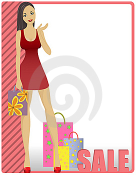 Girl In Striped Card Stock Image - Image: 20871041